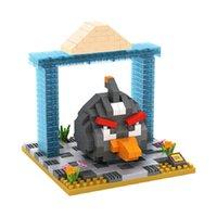 ation figure - LOZ Diamond Block Angryed Birds Series Plastic Building Blocks Kids Toys Educational Toys Ation figures D Bricks With Box Black