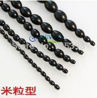 Wholesale 5 sizes for chosen Crystal Urethral beads Plug Black Glass Male Urethral Stimulation Dilator Masturbators Sex Toy For Men S308