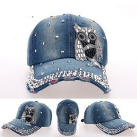 baseball element - Rhinestone Owl Features pop elements sports baseball hat hip hop caps hats for women snapback bone swag gorras chapeu mz
