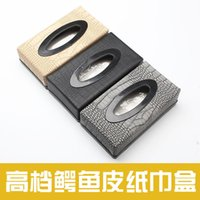 Wholesale PU leather box car interior with new high end crocodile car box creative European car