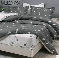 Wholesale Modern Music Note Bedding Set Cotton Duvet Cover Comforters Bed Sheet Fitted Cover