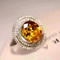 Cheap natural citrine Best 925 Sterling Silver