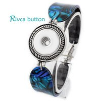 fashion bangles rhinestones - P00705 Hot Snap Bracelet Bangles Newest Design Fashion Snap Button Magnetic Noosa Chunks Charm Bangles Fit18mm Rivca Snaps Jewelry