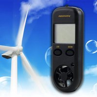 Wholesale 2015 New Digital LCD display Wind Speed Measurement Gauge Tester Scale Anemometer Thermometer