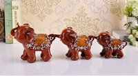 accessories and ornaments - Elephant Family Figurines Resin Animal Statue Craft Ornament Accessories Embellishment Furnishing for Home Decoration and Gift