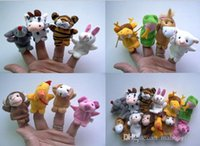 Wholesale 2015 Hot Finger Puppets toys Puppets Baby Hand Puppet toy baby Finger doll Toy dolls Zodiac animals