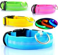 led glow products - Glow LED Dog Pet Cat Flashing Light Up Nylon Collar Night Safety Collars Supplies Products Color XS S M L XL Size Flashing LED light Glow