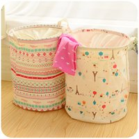 Wholesale Large folding laundry basket laundry baskets of children s toys put clothes washing barrel storage basket containing basket basket