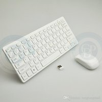Wholesale 2 ghz USB Gaming Wireless Keyboard Cordless Optical Mouse Combo for Macbook PC Computer Laptop W7 XP Mac