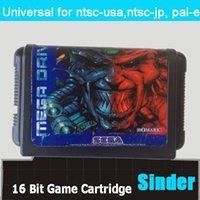 Wholesale Battle Frenzy Game Cartridge Bit Big Black Game Card For Sega Mega Drive Genesis