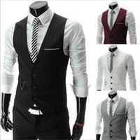 Wholesale fashion mens v neck vest color size M XL