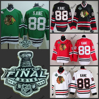Unisex hockey jerseys - Hot Items Chicago kane Blackhawks red black white green Ice Hockey Jerseys Final Stanley Cup Patch Accept Mix order