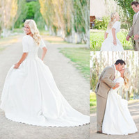 Reference Images plus size wedding dresses with sleeves - Modest Plus Size Wedding Dresses With Sleeves Lace Vintage Wedding Gowns Court Train Satin Chiffon Pleats Bridal Gowns