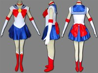 Wholesale NEW Anime clothing Sailor Moon Small Lady Sailor Venus mars Neptune Sailor Jupiter cosplay Costume girls dress