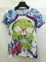 Cheap Raisevern unisex summer tops 3D t shirt skull graffiti print funny design tshirt men women tee shirts cute summer clothing