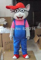 Wholesale real picture high quality Glasses mouse big cats baby Cartoon Character Costume Mascot Custom Products Mascot Costumes