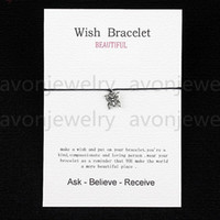 ancient butterfly - 2016 hot sale Ancient Silver Butterfly String bracelet gift Card with Friendship Charm Wish bracelet colors new fashion customizable
