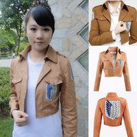 Wholesale Attack on Titan Shingeki no Kyojin Scouting Legion Cosplay Costume Coat Jacket