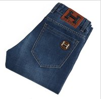 Jeans my orders - 2014 Hot Sell Autumnr Men Jeans Casual Fashion Trousers Long Straight Blue Jean Mixed Order Accept MY
