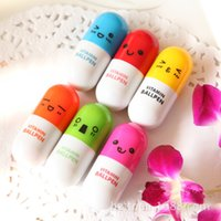 advertising - 6 Color Pill Shape Retractable Ballpoint Pen Cute Face Pills Pen Creative Stationery Ball Pen Children s Gifts Advertising Gifts