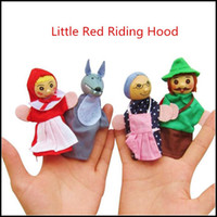 Wholesale Prettybaby kids puppets toys baby Little Red Riding Hood Mermaid style stuffed puppets set boys girls family dolls Pt0053