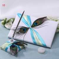 feather pen - Wedding Supplies Guest Books Pen peacock feather GuestBooks