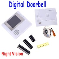 Wholesale 2GB Digital Peephole Doorbell M Night Vision Video Record Home Security White freeshipping Dropshipping