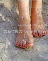 anklets and toe rings - K053 Europe And America New Fashion Summer Sweety Alloy Gold Silver Engraved Heart Toe Ring Anklet For Women