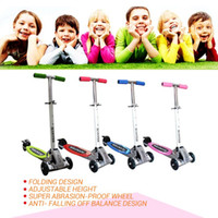 Wholesale 2015 new arrival Three wheels Balance scooter Folding size years old Children Safety scooter Adjustable Height