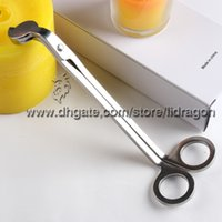 Wholesale Free DHL Silver Candle Wick Oil Lamp Steel Stainless Trimmer Scissor Cutter Snuffers Tool