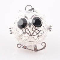 Wholesale Lovely Hollow Owl Cage Locket mm fit for Baby Bola Ball Caller Locket Pendant Fashion Jewelry Findings JAL C73