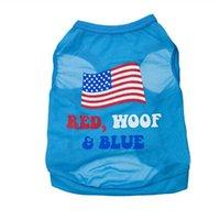 american flag apparel - New Dog summer clothes pet American Flag T shirt printing T shirt Dog Clothes Dog Shirtfor small animals pet apparel