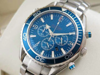 007 - Luxury dive chronograph blue Mens Watch Professional Planet Ocean Co Axial Dive Wristwatch Men Watches