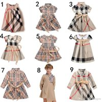 kids fashion - New Baby Girl Dresses fashion baby girl dresses Kids Plaid Dress children Dress designer summer Children Dress High Quality