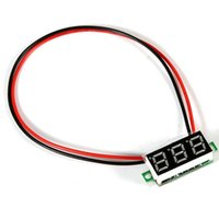 Wholesale Mini Digital DC inch Two Wire LCD Voltmeter Gauge Voltage Detector On Sale