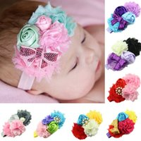 Wholesale 8pcs Newborn Baby Girl Headwear Flower Headband Kid Hair Accessories