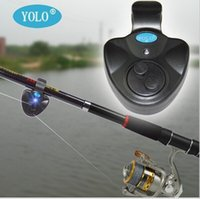 Wholesale Outdoor Electronic Fish Bite Alerm Alarm Finder Sound Alert Running LED Clip on Fishing Tool Drop Shipping