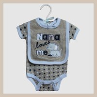 onesies - 2015 Newest babies clothes High quality Baby boys girls set Bodysuits romper bibs baby onesies