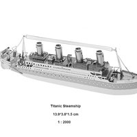 Wholesale Titanic D Metal Puzzles DIY Model Children Jigsaws Toys Present Gift