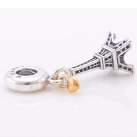 Wholesale Promotion New Style LW395 Sterling Silver Charms Screw Thread Eiffel Tower Beads Suitable For European Pandora Snake Chain