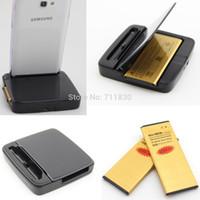 Wholesale X Note Battery mAh Black Daul Charger Dock For Samsung Galaxy Note4 N910 EB BN910BBE N910cq SM N910H N910C N910U N910F