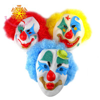 Wholesale April Fool s Day masquerade clown mask latex environmental performance bar Christmas party supplies props