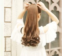 bandage in roll - Ms long curly hair ponytail wig bandage style big waves roll pear realistic in length ponytail