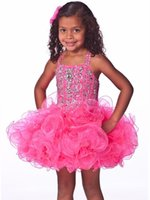 beauty pretty - Top Sell Pretty Ball Flower Girls Dresses Girls Pageant Dresses Beauty Contest Mini Princess Skirt Party Dress NO