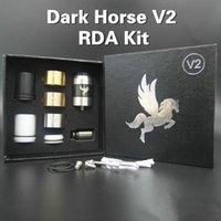 Dark Horse RDA V2 Kit Rebuildable atomizador RDA goteo atomizador 22mm clon con 510 hilos extra 3 anillos de alta calidad goteo consejos