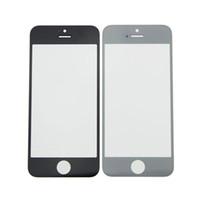 Pour iPhone5 5S 5C 4 4S avant en verre extra-atmosphérique Objectif tactile couverture d'écran pour iPhone 5 pièces de réparation 5G 5C écran tactile Digitizer Couverture Free Ship