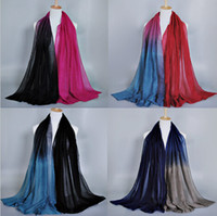 Wholesale 2015 NEW ladies printe ombre shade color popular shawls head pashmina viscose cotton hijab muslim wrap scarves scarf cm