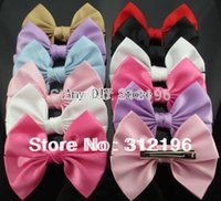 Wholesale quot Korean Satin Ribbon Hair Bows WITH Clips For Baby Girls Hair Accessories Hairpins Ornaments