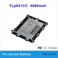Wholesale 2PCS High Capacity mah battery TLp041CC For Alcatel mobilephone battery batteries with one year warranty