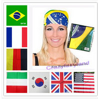 Wholesale 2015 World Nation Flag Hiphop Hijabs Headband Bandana Scarf Confederate Rebel Flag Rebel Flag Headband Bandanas cm headband R0993